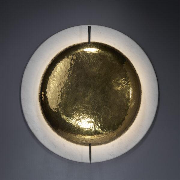 Luminaire laiton et marbre